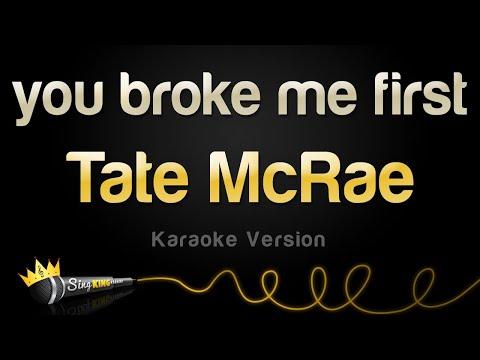 Tate McRae - you broke me first (Karaoke Version)