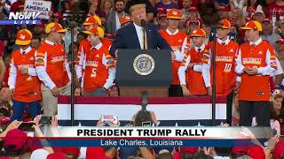 CHAMPIONS ON STAGE: Trump invites Louisiana Little League team on stage at rally