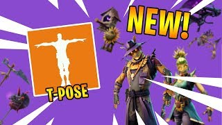 *NEW* Fortnite Leaked Skins & T Pose Emote..! (Scarecrow, Dark Bomber Pickaxe..)
