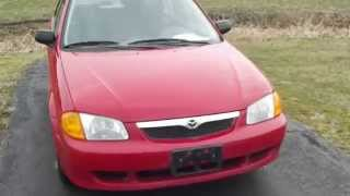 1999 Mazda Protege LX: Red, 4 Cyl Gas Saver, Great Condition