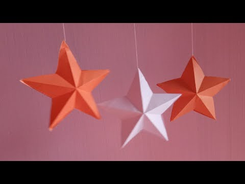 How to make simple & easy paper star. DIY Paper Craft Ideas.