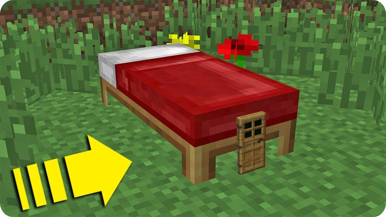 C mo vivir dentro de una cama en minecraft casas for Cama minecraft