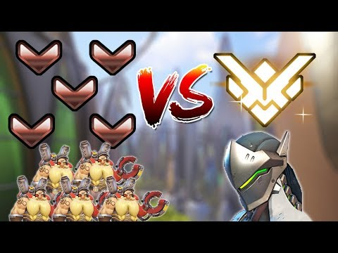 Five Bronze Players Vs. One Grand Master [Overwatch]