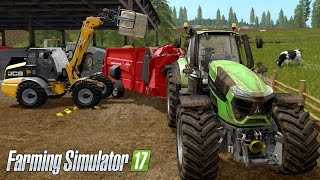 Farming Simulator 17 - Giving Cows Water & Hay Bed (With commentary) Part #2