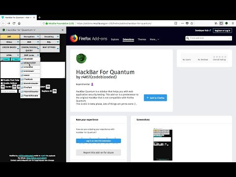How to Install hackbar for Firefox Quantum 2018
