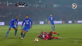 Goal   Golo Éder Militão: Aves 0-(1) FC Porto (Liga 18/19 #15)