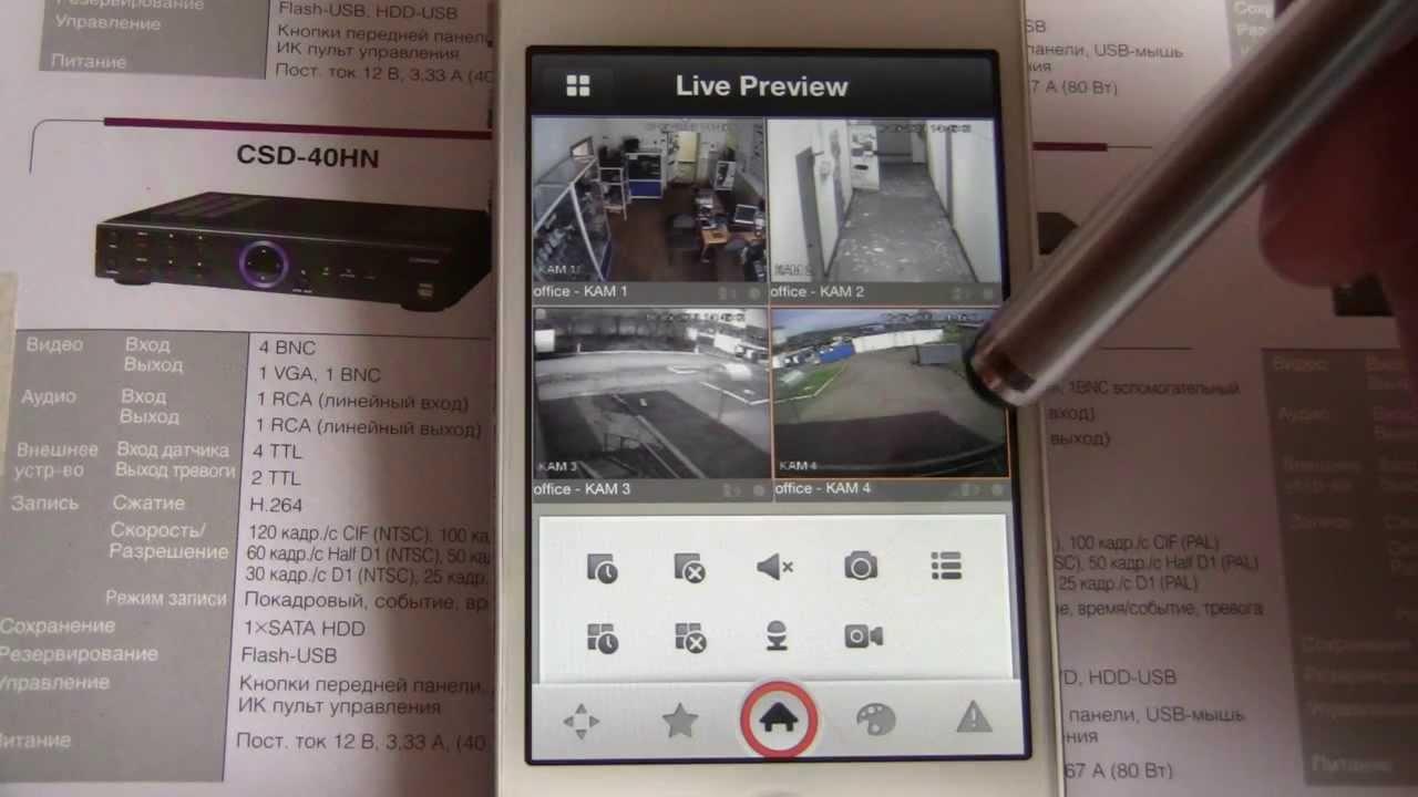 Видеонаблюдение через интернет. Приложение для iPhone