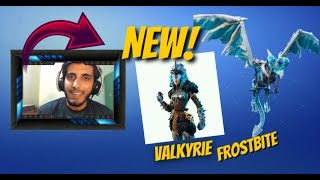 Fortnite Valkyrie Skin and FrostBite Glider - Mobile gameplay