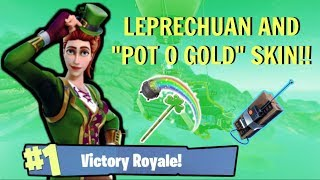 TRY YOUR LUCK UPDATE / NEW SKIN [LEPRECHUAN & POT O GOLD PICK AXE] GAMEPLAY (Fortnite Battle Royle)