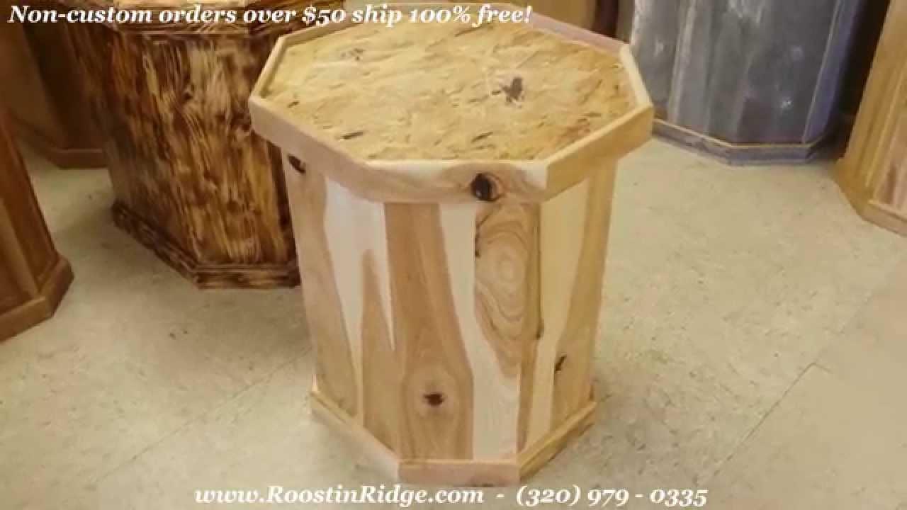 Calico Rustic Hickory Custom Taxidermy Pedestal