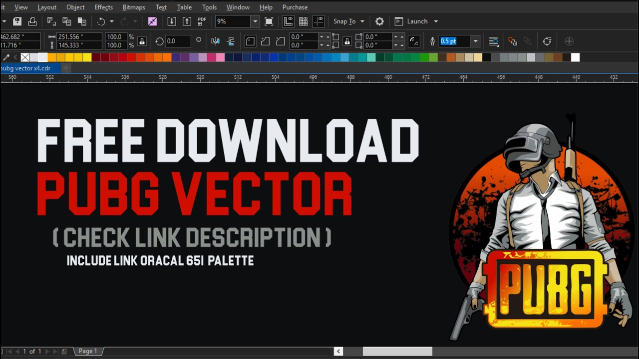 Free download !!! Tutorial membuat shadow PUBG vector (corelDraw)