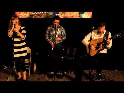 The Hanz Araki Trio performing traditional folk song,