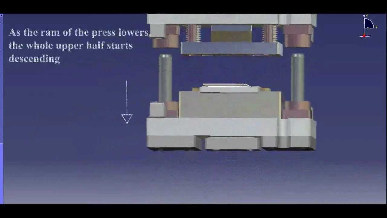 Blank Die Working Animation On Catia Dmu Youtube