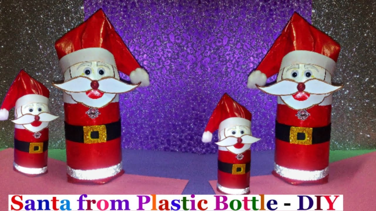how to make santa from plastic bottleeasy