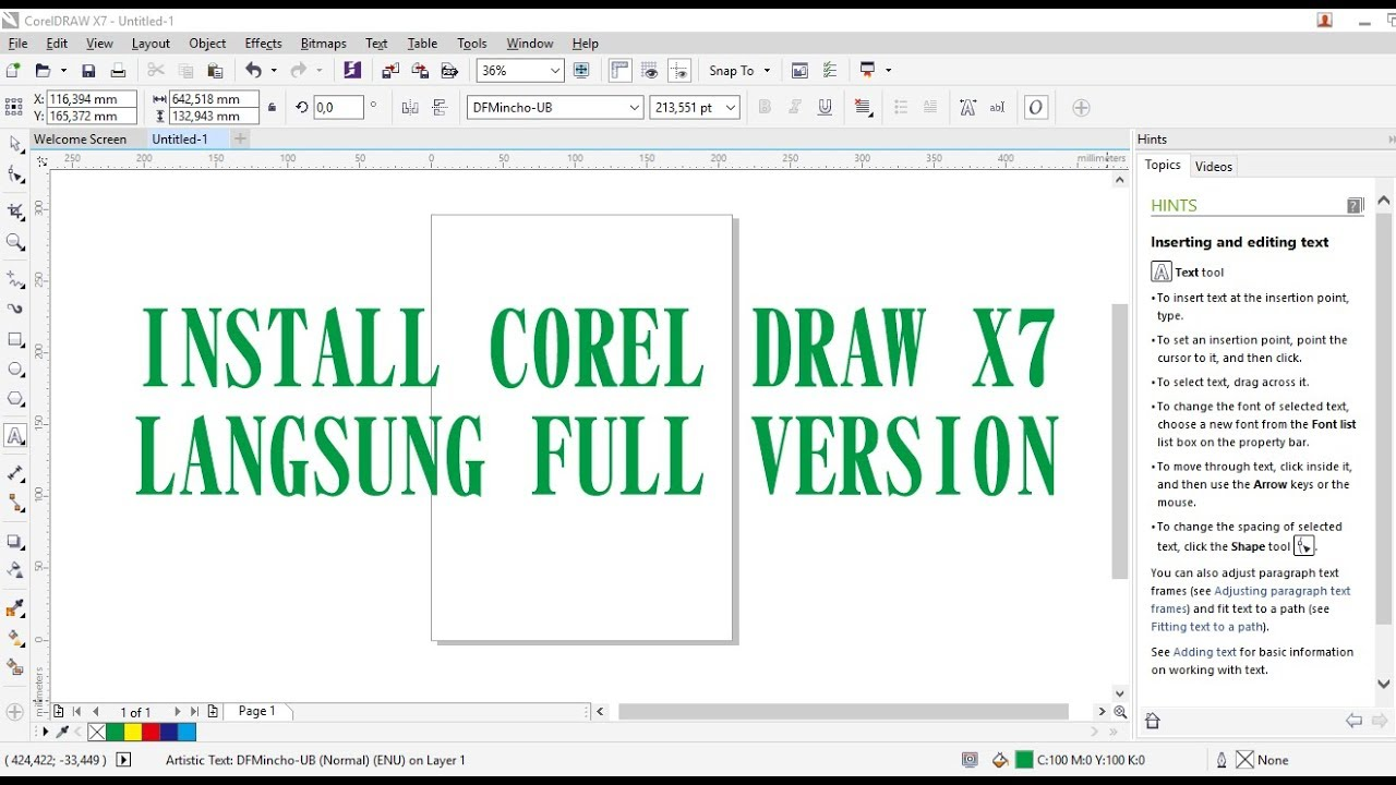 Cara install corel draw x7 full version tanpa crack atau patch