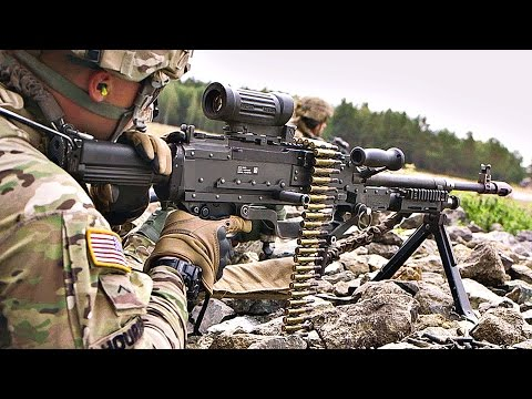 Monstrously Powerful M240L Machine Gun Fire
