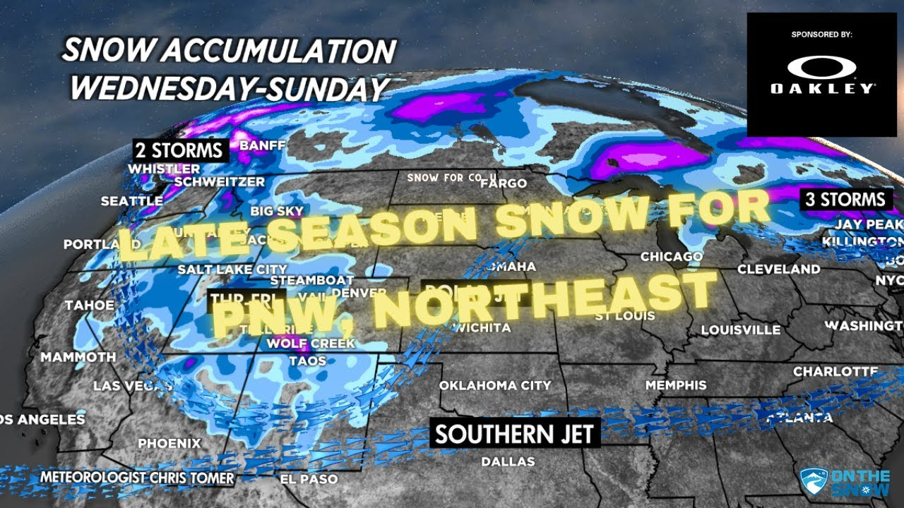 Late Season Snow Headed for PNW & the Northeast