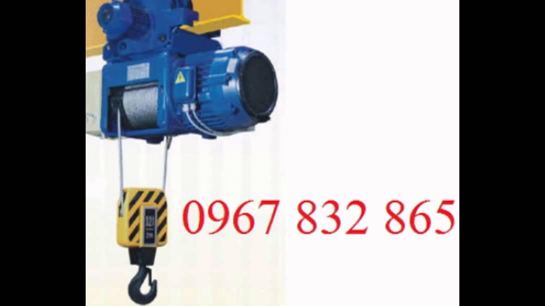 Sửa chữa-Bán Pa lăng cáp điện Trung Quốc 5 tấn 24m, 10 tấn 9m, 10 tấn 12m - YouTube