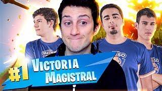 ¡¡¡VICTORIA MAGISTRAL CON WITHZACK!!! | Team Queso - Fortnite
