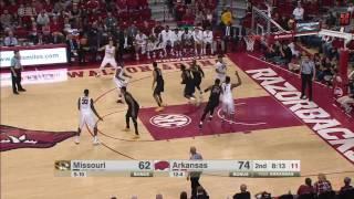 Arkansas vs Missouri Basketball Highlights 1-14-16