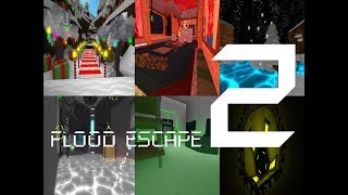Roblox Flood Escape 2 (Test Map) - Multiplayer Compilation 5
