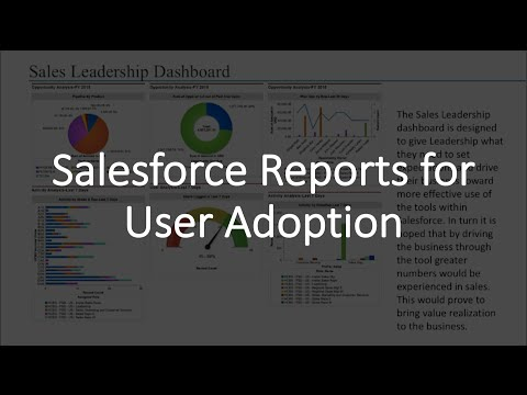 Salesforce Reports for User Adoption