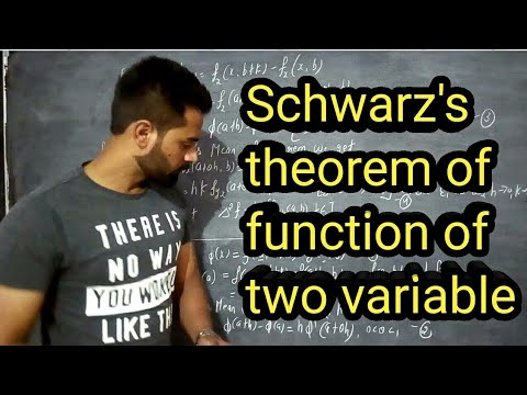 Schwarz's theorem of function of two variables of partial derivatives in hindi