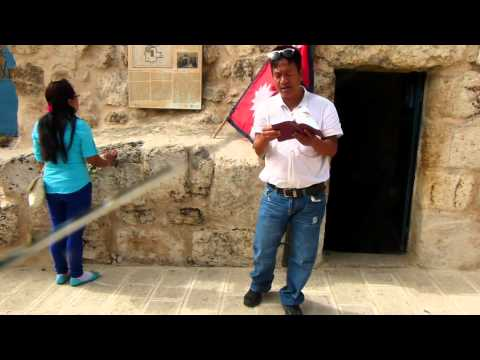 Cave (Tomb) of Lazarus at Bethany village, Palestine on 18 May 2013 Milap Tour (Part 1)
