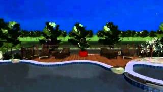 3D Landscape Design Tour (Night)