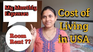 Cost of Living in USA | Monthly Expenses | Telugu Vlogs in USA
