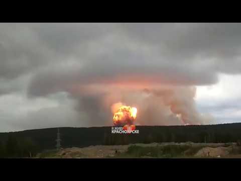 Взрыв и пожар На территории воинской части в Ачинском районе Красноярского края.