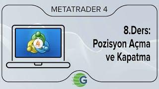 GCM MetaTrader 4 - 8.Ders: Pozisyon Açma ve Kapatma