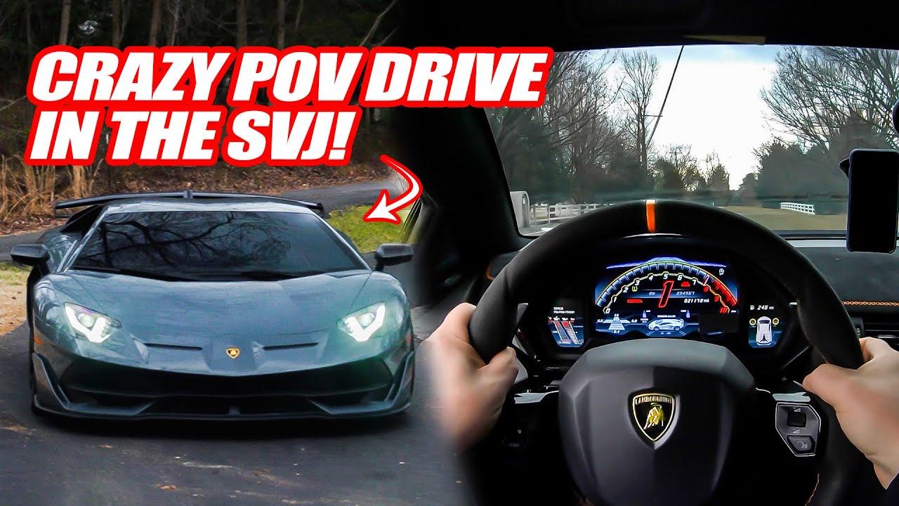 CRAZY POV DRIVE IN THE LAMBORGHINI AVENTADOR SVJ! *The Most SAVAGE Lamborghini EVER*