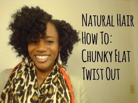 natural hair chunky flat