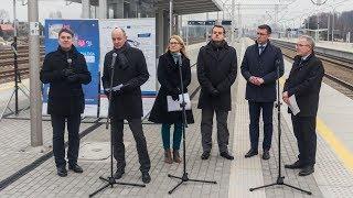 Konferencja prasowa PKP Polskich Linii Kolejowych