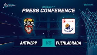 Telenet Giants Antwerp v Montakit Fuenlabrada - Press Conf - Basketball Champions League 2018-19
