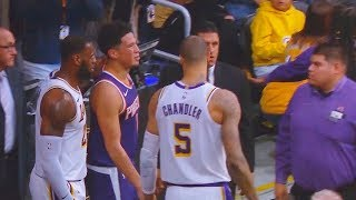 LeBron James Checks On Devin Booker's Injury! Lakers vs Suns thumbnail