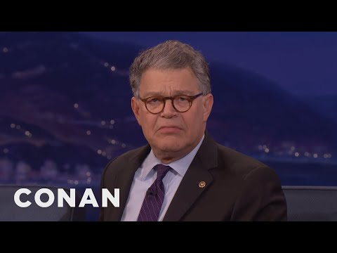Senator Al Franken Made Fun Of Trump's Comb Over  - CONAN on TBS