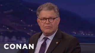 Senator Al Franken Made Fun Of Trump's Comb Over  - CONAN on TBS