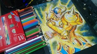 Speed Drawing Aldebaran de Touro (saint seiya) Desenhando Aldebaran de Touro