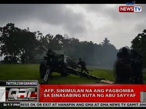 QRT: AFP, sinimulan na ang pagbomba sa sinasabing kuta ng Abu Sayyaf