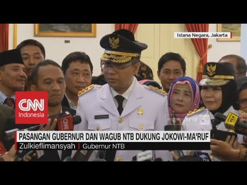 Pasangan Gubernur & Wagub NTB Dukung Jokowi-Ma'ruf