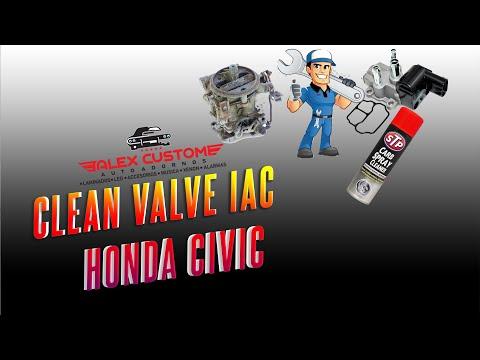 Como Limpiar Valvula IAC Honda Civic #How to clean valve IAC 2017