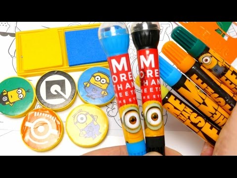 Despicable Me Stamp & Stencil Activity Set - Minions Fan Art Roller Stamps