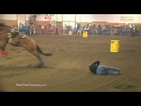 Barrel Racing Accident Barb Barber And Harley 2009 Youtube