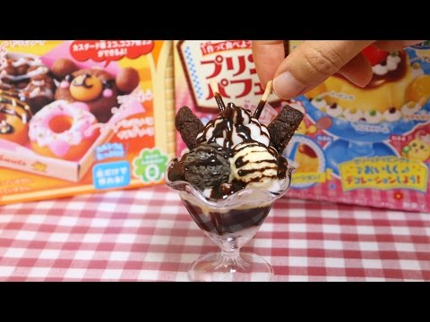 "Kracie Popin'Cookin' DIY Candy Arrange ""Chocolate Pudding Parfait"" 知育菓子 アレンジ チョコプリンパフェ"