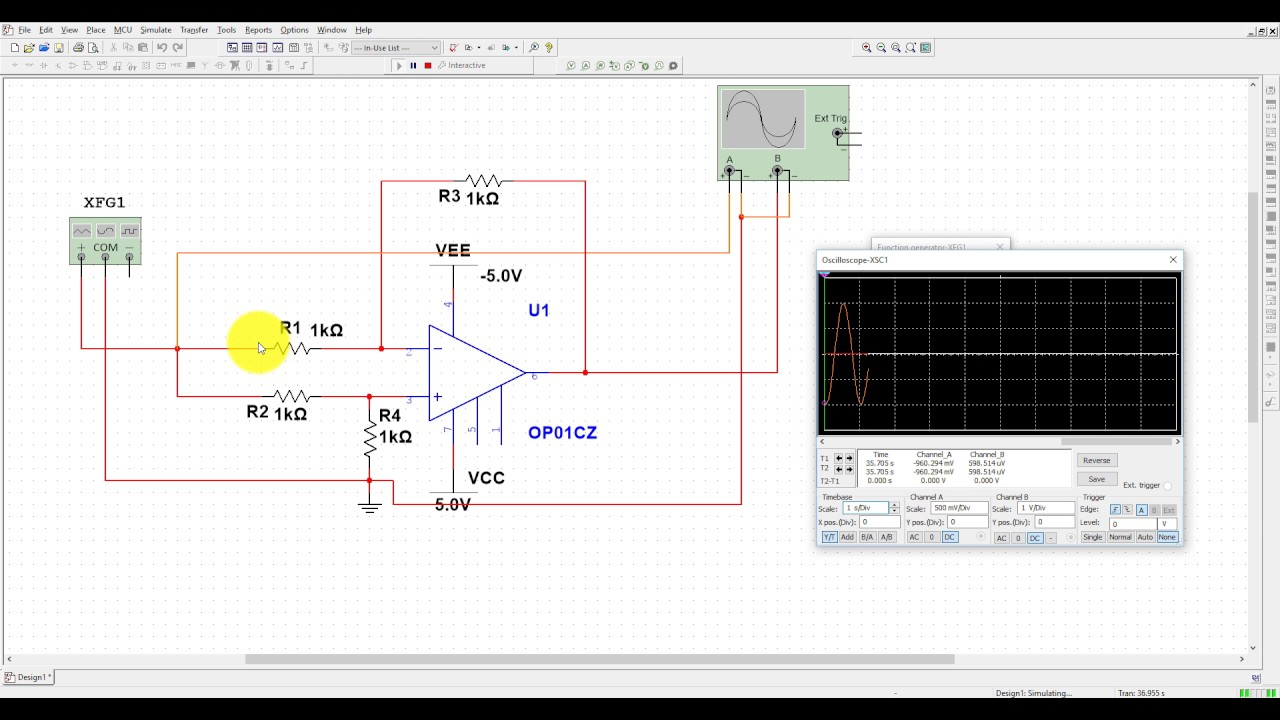 Differential Amplifier Designing And Simulation Using Opamp In The Lm741 Construct Openloop Comparator Circuit Shown Be Multisim