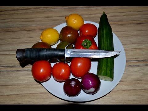 Нож НР 40 Штрафбат Златоуст A&R, работа на кухне. Часть 2