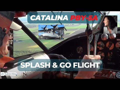 Catalina PBY-5A splash-and-go flight (onboard)