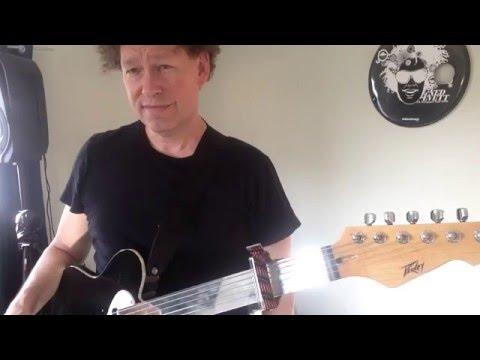 Ned Evett Glass Guitar 'Standing Steel' technique